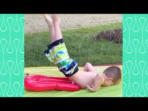 TRY NOT TO LAUGH or GRIN : BABIES WATER FAILS that will make your day –  Kids Fun and Fails Videos