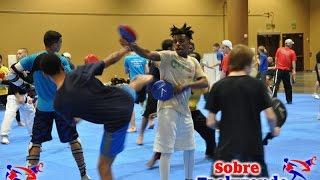 Taekwondo training.  Simple reaction time exercises