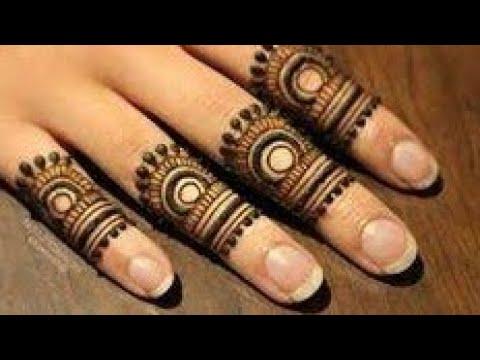 easy fingers mehndi design