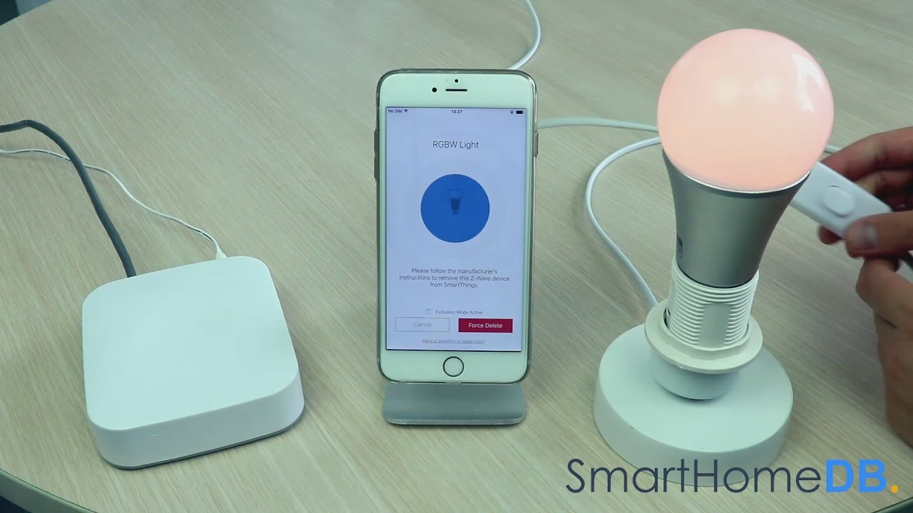 HOW-TO: Unpair and Disconnect your Samsung SmartThings Hub from an Aeotec  Color Bulb