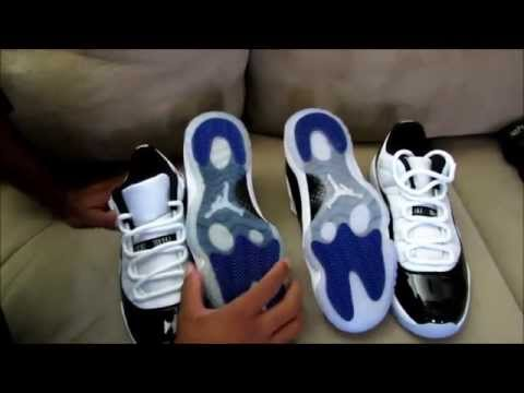 JORDAN 11 LOW CONCORD REAL VS FAKE