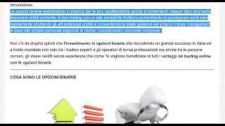 OPZIONI BINARIE: Guida per Principianti al TRADING BINARIO
