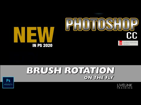 Brush Rotation Keyboard Shortcut. Photoshop 2020