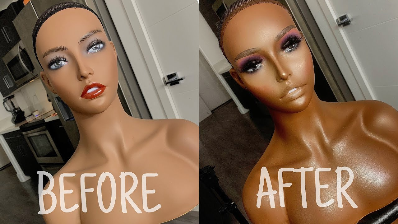 A SISTER DO A BEFORE AND AFTER MANNEQUIN TRANSFORMATION