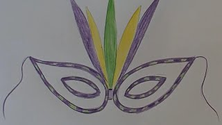 draw carnival mask