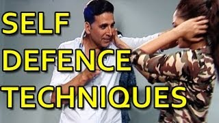 Akshay Kumar & Glen Levy teaches self defence techniques for women safety