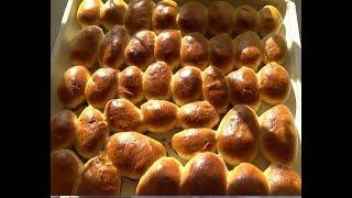 #822.Очень вкусные пирожки с яблоками,замес в хлебопечке.