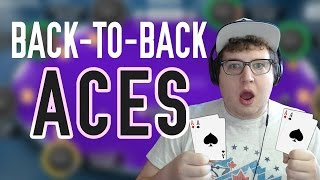 Back to back pocket aces on the final table bubble (tonkaaaap stream highlights 11/16/2016)