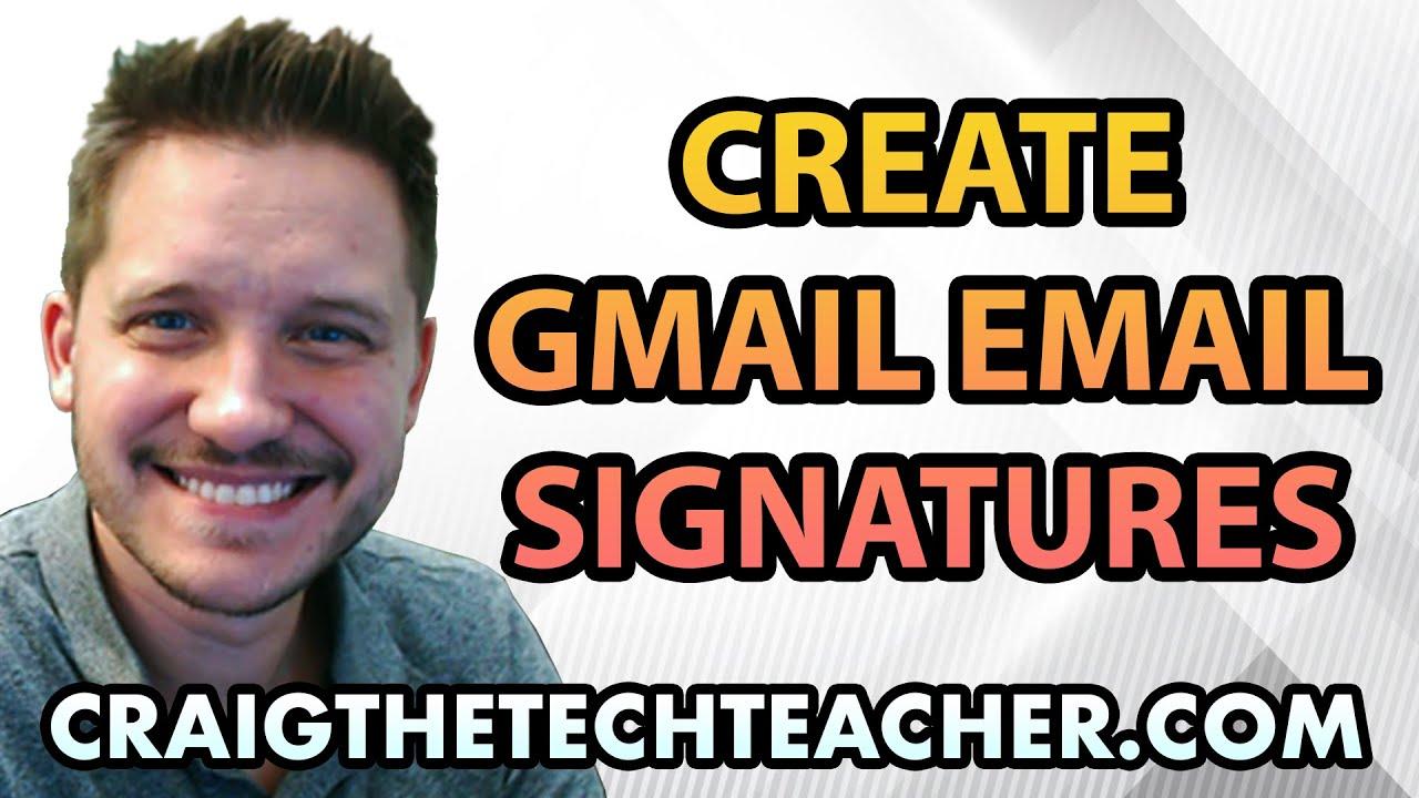 How To Create A Google Gmail E-mail Signature - YouTube