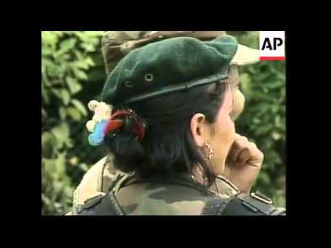 Colombia FARC woman, interviews with female rebels - 2001