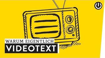 Warum gibt's noch Teletext? | WARUM EIGENTLICH?