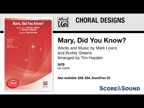 Mary, Did You Know? (YouTube)