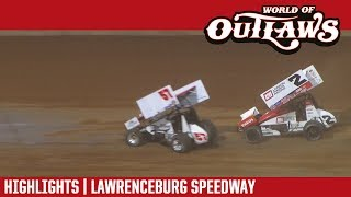 World of Outlaws Craftsman Sprint Cars Lawrenceburg Speedway May 29, 2017   HIGHLIGHTS