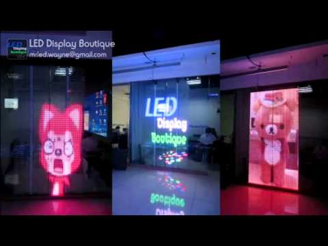 P20 Transparent Windows Facade Led Display Led Video Wall