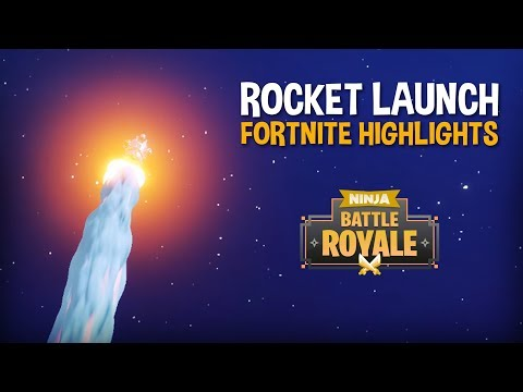The Rocket Launch!!! - Fortnite Battle Royale Highlights - N