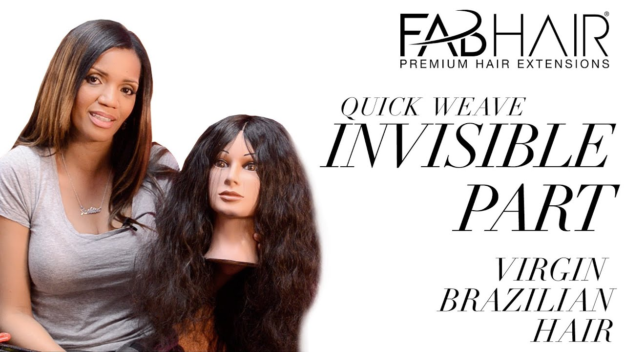 how to do soft dreads : HOW TO: DO INVISIBLE PART - QUICK WEAVE INSTALL - YouTube
