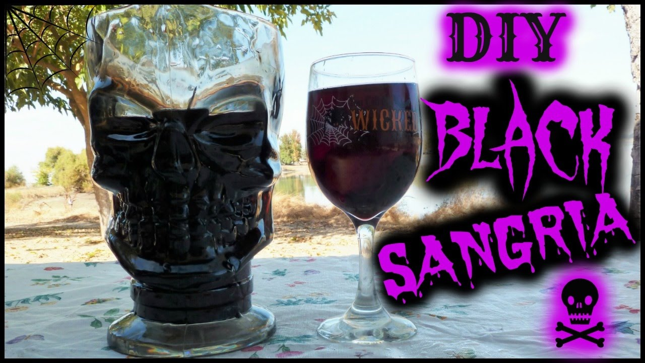 Easy Halloween Shots Recipes Black Sangria Cocktail Easy Recipe How To Make A Halloween Cocktail Alcohol Drink