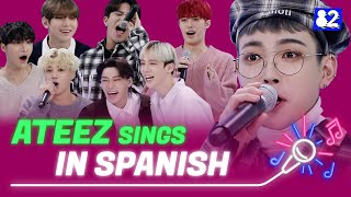 "ATEEZ sings ""Wonderland"" in Spanish 
