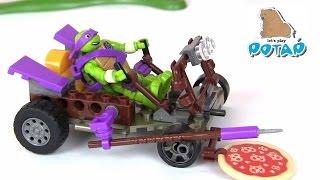 TMNT Pizza Buggy Donnie Черепашки Ниндзя Мультик. Донни Стреляет Пиццей!!! Игрушки для Мальчиков