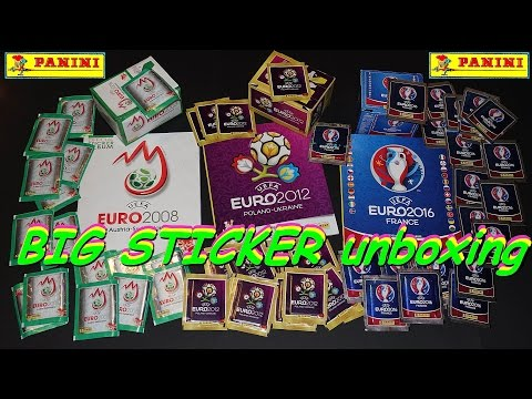 PANINI 160 Sticker UEFA CUP ´16, ´12, ´08 new stickers new Paninialbum