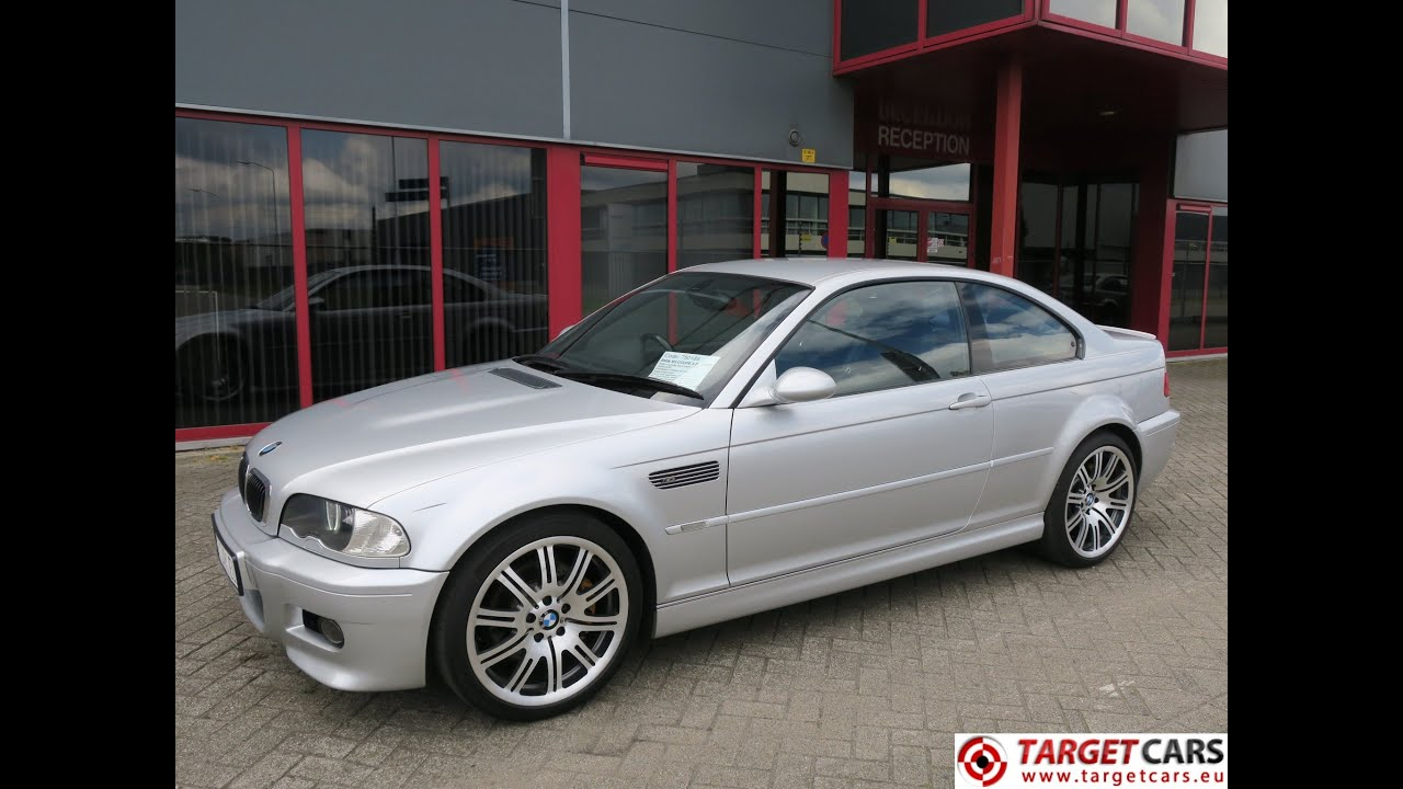 750185 bmw m3 e46 coupe 3 2l 09 2002 silver 343hp smg2 97823miles rhd youtube. Black Bedroom Furniture Sets. Home Design Ideas
