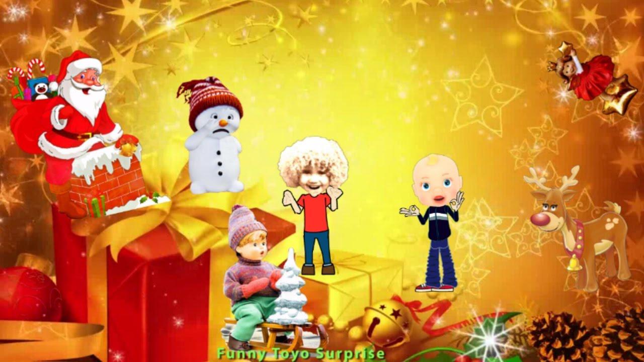 Up on the Housetop – Christmas Carol Lyrics Song Cartoon Animation Nursery Rhimes Kids - YouTube