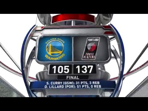 Golden State Warriors vs Portland Trail Blazers - February 19, 2016
