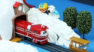 기차 장난감 로봇트레인 RT 뽀로로 기차놀이 만들기 요괴워치 위스퍼 기차역 Robot Trains Toys Pororo Toys Yokai Watch Whisper