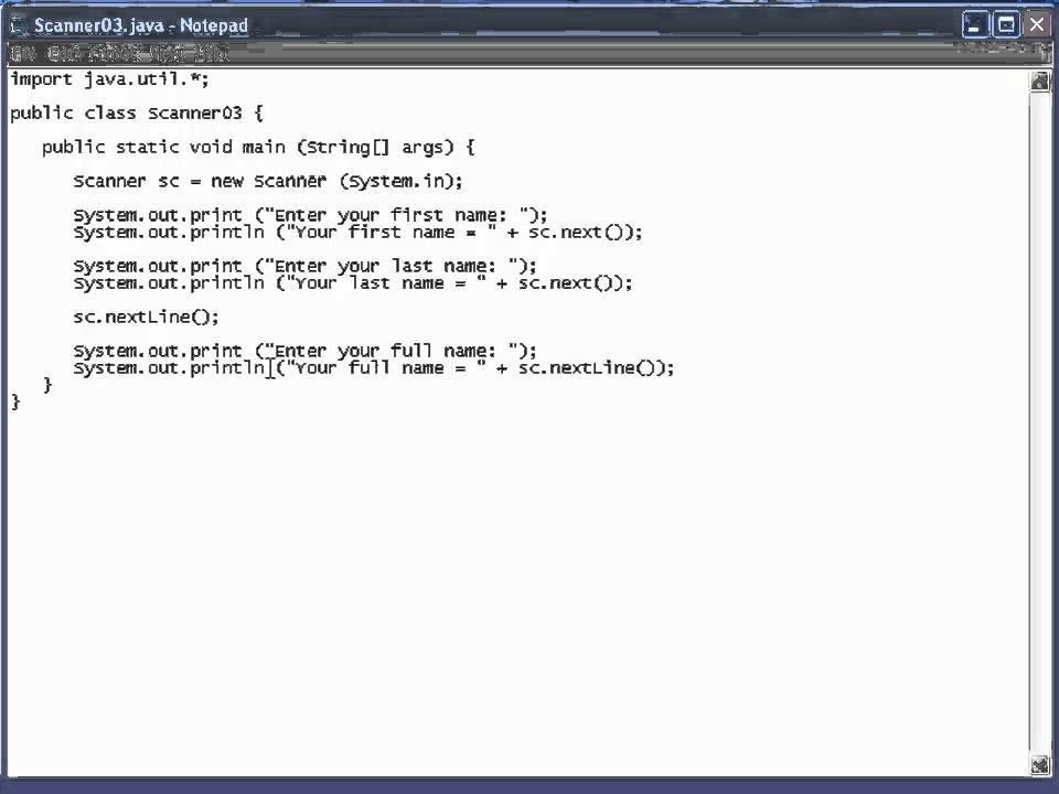 Java Lesson 18 - Scanner Class 02 - Example Programs - YouTube
