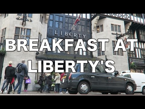 Breakfast at Liberty's London + Art Fabrics & Hahavaianas