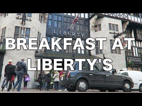 Breakfast At Liberty's London + Art Fabrics & Hahavaianas