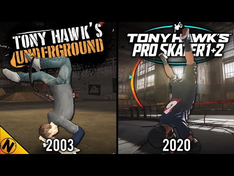 Tony Hawk's Pro Skater 1+2 vs Tony Hawk's Underground 1+2 | Direct Comparison