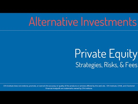 2016 CFA Level 1 MindMap - SS18 - Alternative Investments - Private Equity