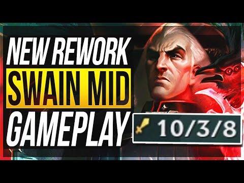 SWAIN REWORK IS SO BROKEN! NERF Q! Swain Mid Gameplay   League of Legends