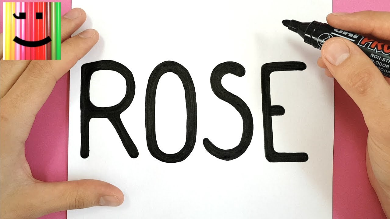 Dessin sympa comment dessiner une rose partir du mot - Dessin facile rose ...
