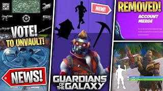 Emote Secret, Star Lord Skin, Stretch & Revert Info, Account Merge REMOVED & More! (Fortnite News)