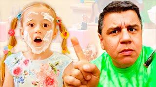 Nastya e seus erros de comportamento, regras de condutapara crianças