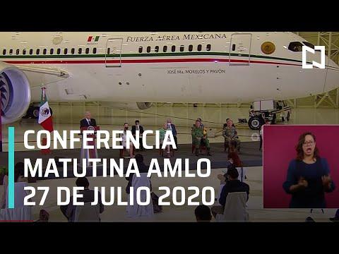 Conferencia matutina AMLO/ 27 de Julio 2020