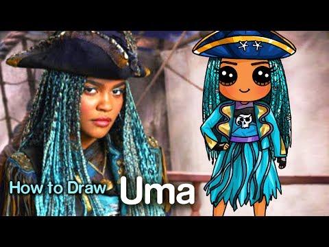 How to Draw Uma | Disney Descendants