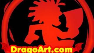 How to Draw Hatchet Man, Insane Clown Posse, Step by Step
