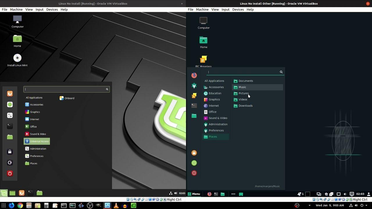 [2019-2021] Linux Mint 19 1 vs Linux Manjaro 18 0 | RAM vs Theme