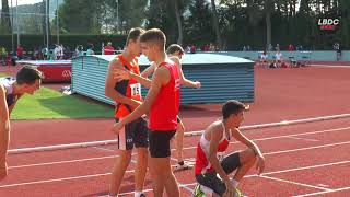 800m Hombres Sub18 Final B, Cto. Cataluña