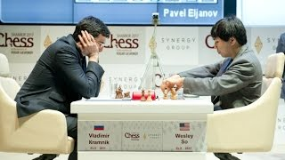 Wesley So Beats Kramnik by Using The Classical Catalan Round 5 Shamkir Chess 2017
