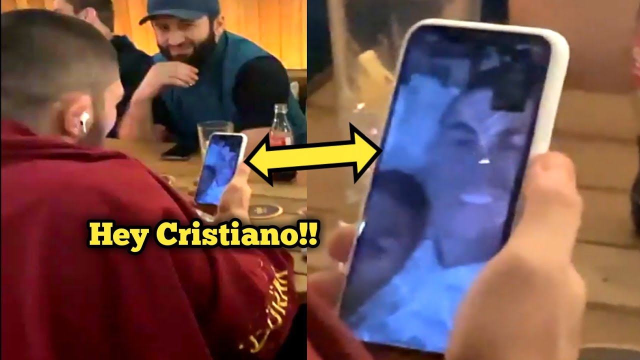 khabib nurmagomedov talking with Cristiano Ronaldo on live video call