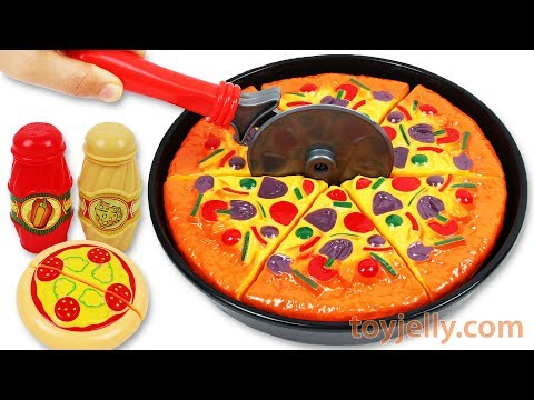 Play Doh Pizza Oven Velcro Cutting Toys Learn Colors Kinder Joy Surprise Egg Baby Finger Family Song