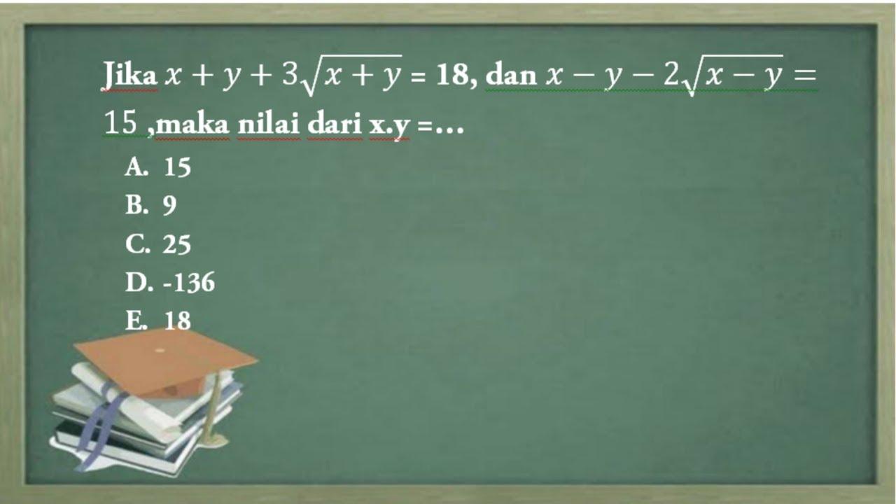 Tersedia ✓ gratis ongkir ✓ pengiriman. Soal Utbk Sbmptn 2019 Matematika Dasar Soal 3 Youtube
