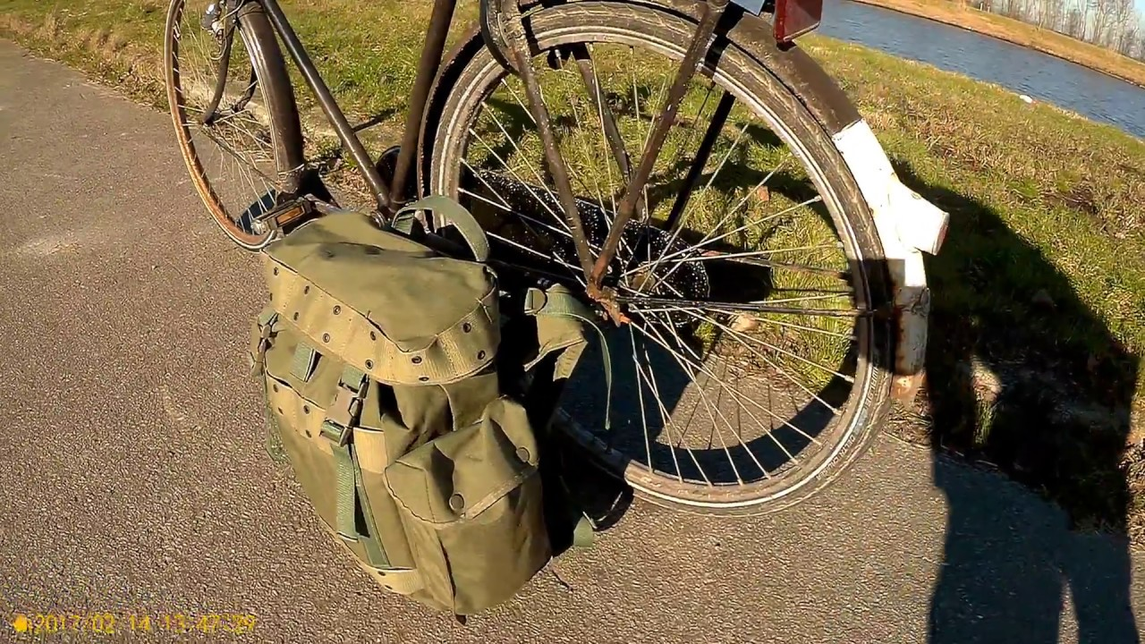 Got A New Dutch Air Force Backpack (KLU 93) | Sunny Bike Commuting in Groningen (HW 14 02 18)