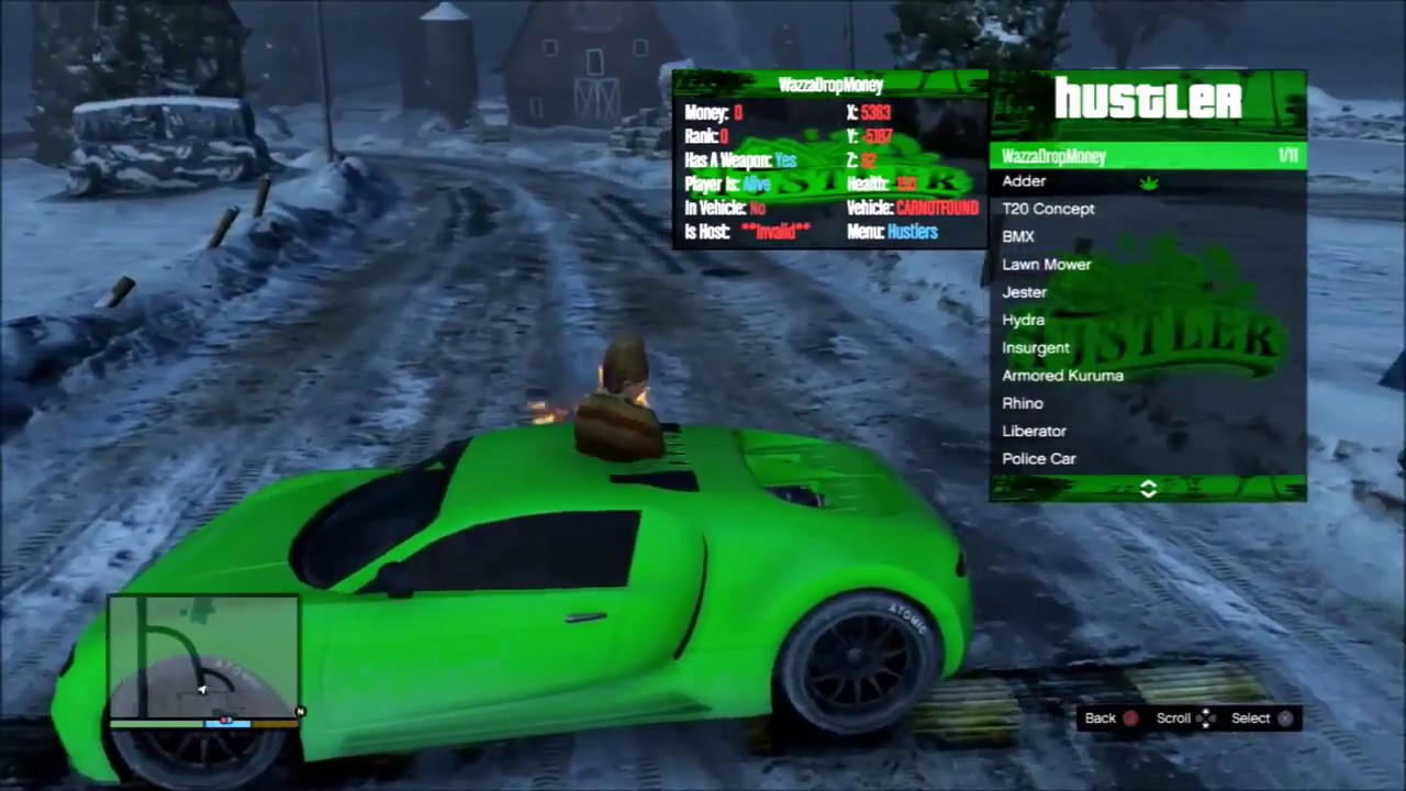 💚 [GTA/1.27] The Hustler SPRX Menu + Free Download || zOlymP💚