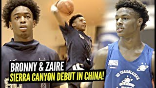 1st Look at Bronny James & Zaire Wade On SIERRA CANYON In China!! Bronny JUMPING Even HIGHER!
