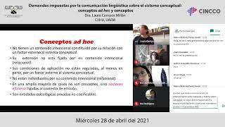 Demandas impuestas por la comunicación lingüística sobre el sistema conceptual: conceptos ad hoc...